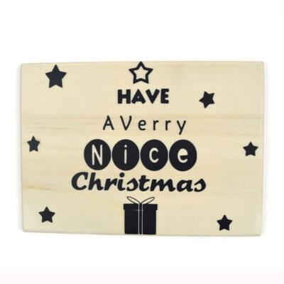 Kerstkaart have a verry nice christmas