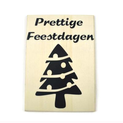 Houten kerstkaart, kerstboom