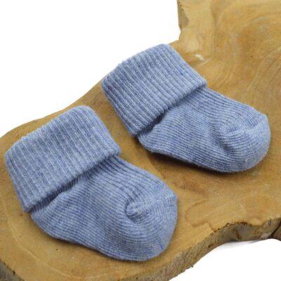 Baby sokjes - licht grijs blauw