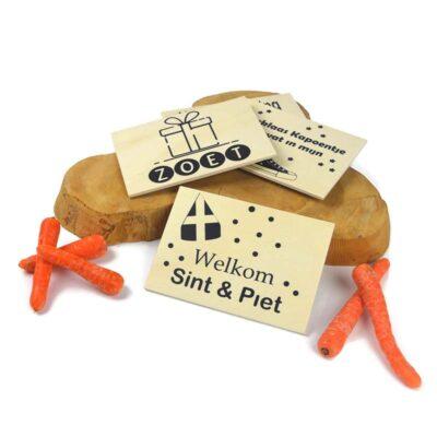 houten sinterklaas kaarten