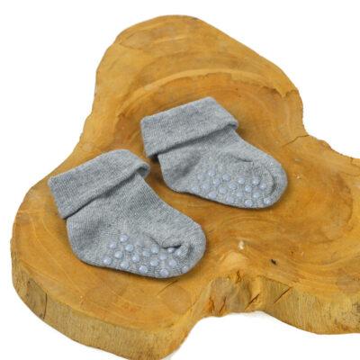 Baby sokjes - Grijs antislip